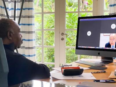 ali-bongo-se-felicite-de-la-creation-du-bureau-afrique-du-gca-dedie-a-reduire-les-effets-devastateurs-du-changement-climatique